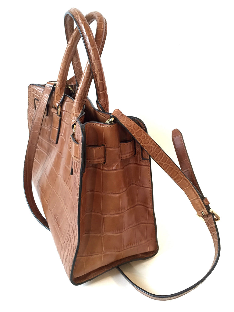 MICHAEL Michael Kors Tan Textured Leather Hamilton Tote | Gently Used |