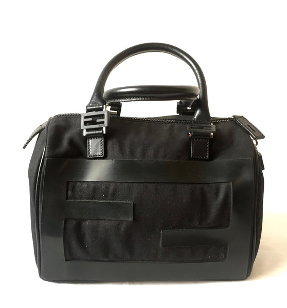 Fendi Canvas & Leather Duffle Tote | Gently Used | - Secret Stash
