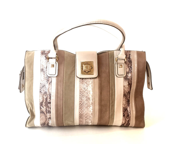 ALDO Grey & Beige Large Shoulder Bag | Gently Used | - Secret Stash