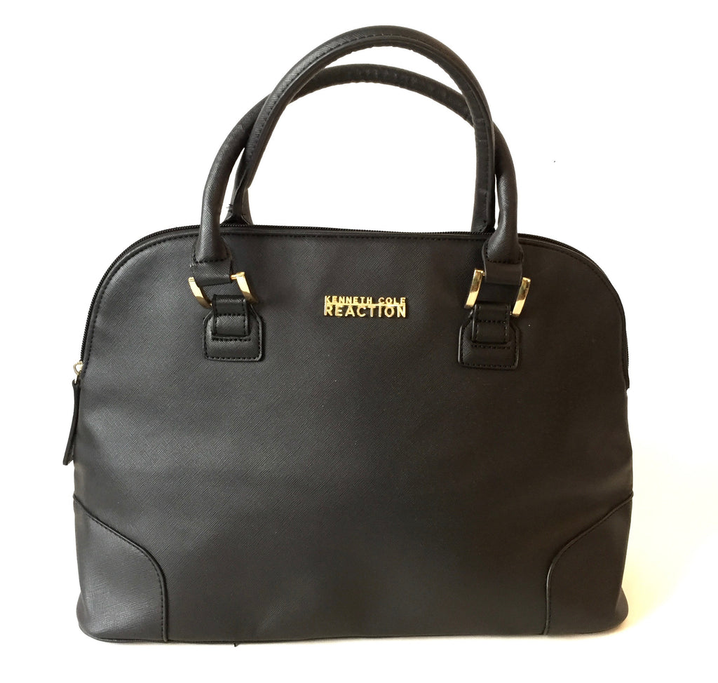 Kenneth Cole Reaction Black Faux Leather Tote | Gently Used | - Secret Stash