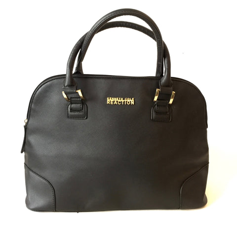 Kenneth Cole Reaction Black Faux Leather Tote | Gently Used |