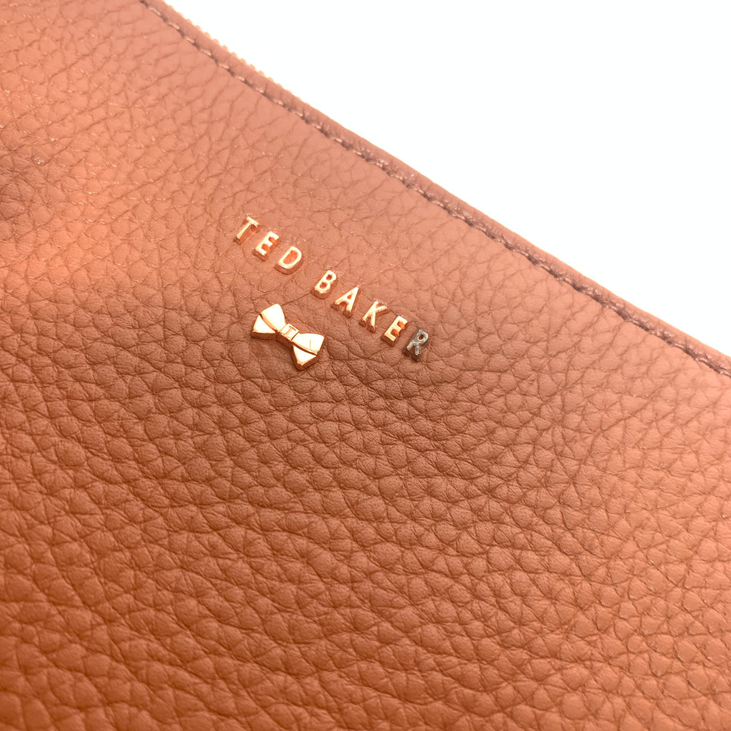 Ted Baker Tan Pebbled Leather Saddle Cross Body Bag | Pre Loved |