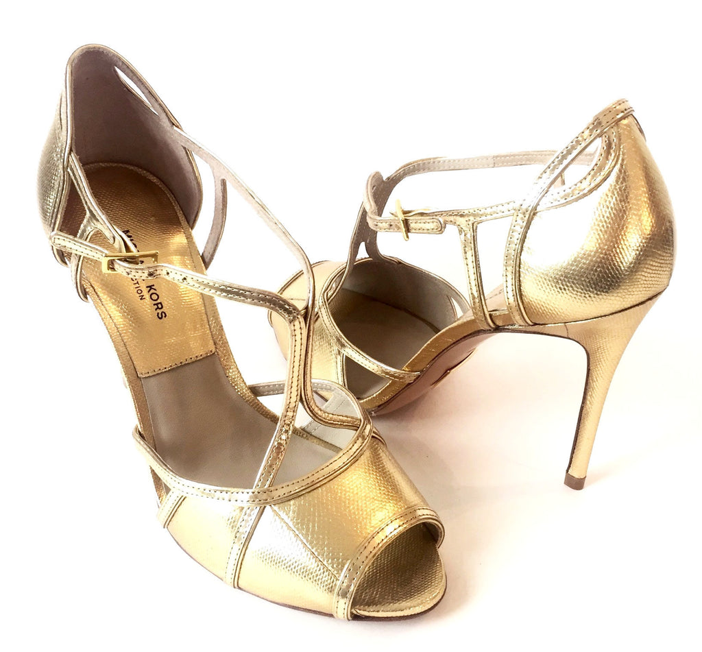 Michael Kors Collection Gold Heels | Brand New | - Secret Stash