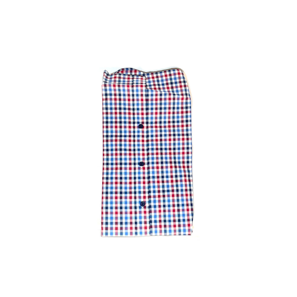 T.M Lewin Men's Blue & Red Checked Collared Shirt | Brand New |