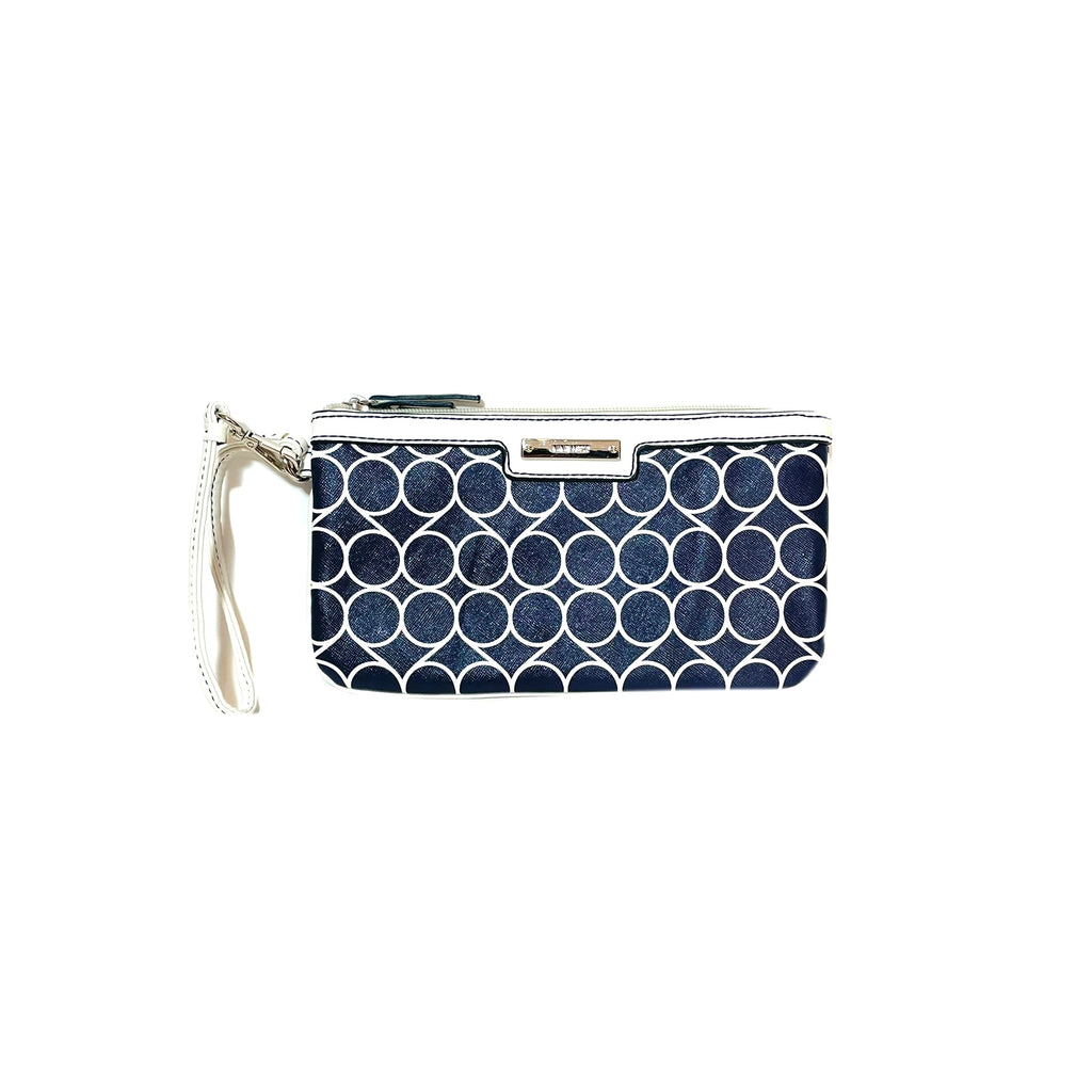 Nine West Blue & White Logo Wristlet | Gently Used |