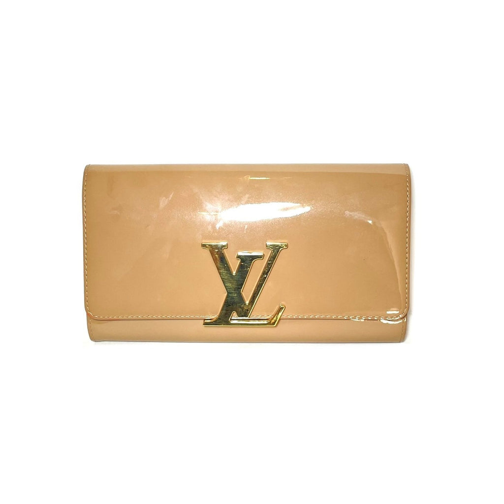 Louis Vuitton Beige Vernis Leather Louise Clutch Bag | Gently Used |