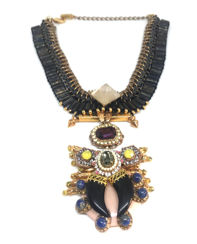 OUTHOUSE 'The Black Sheep' Statement Necklace | Like New |
