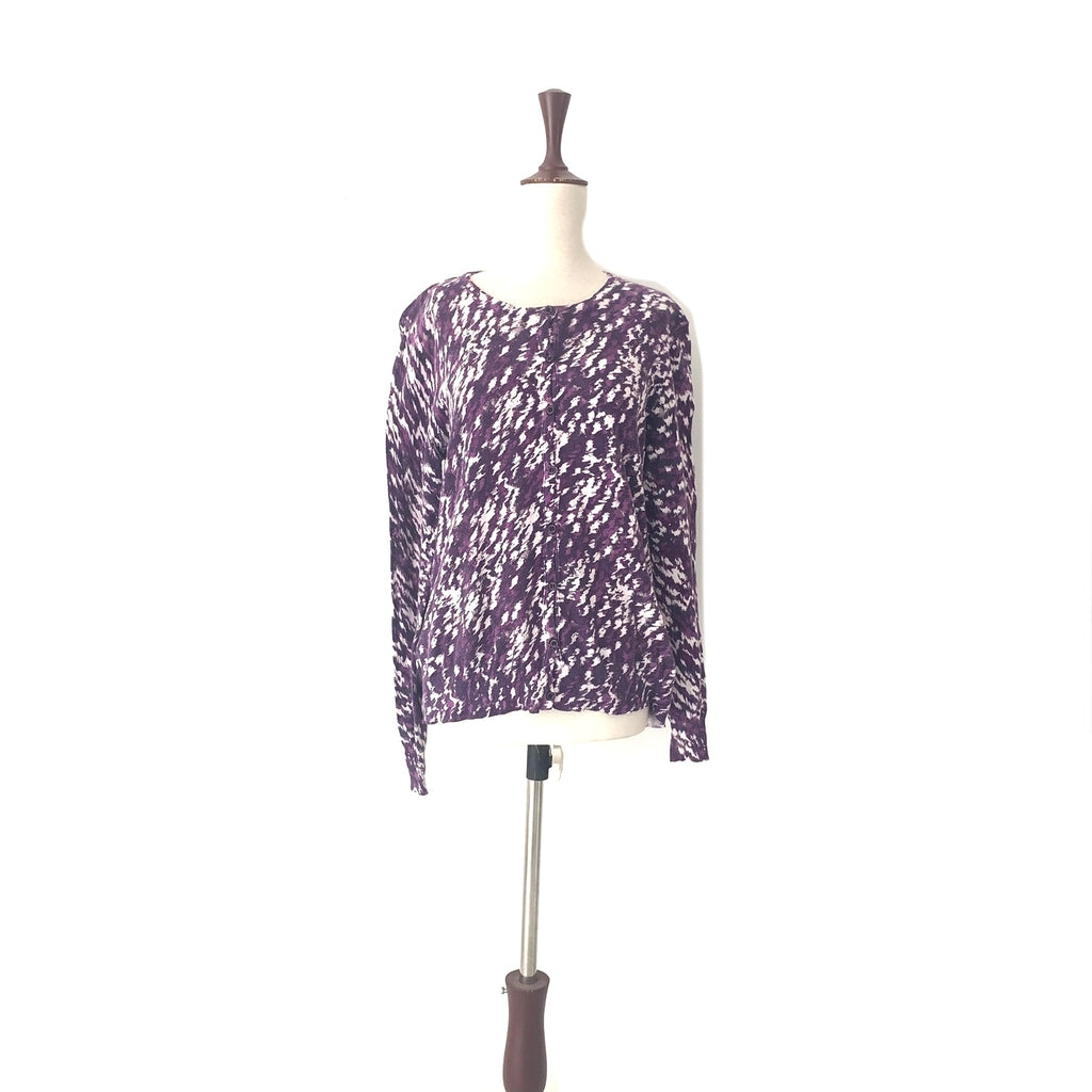 George Purple Printed Sweater | Pre Loved |