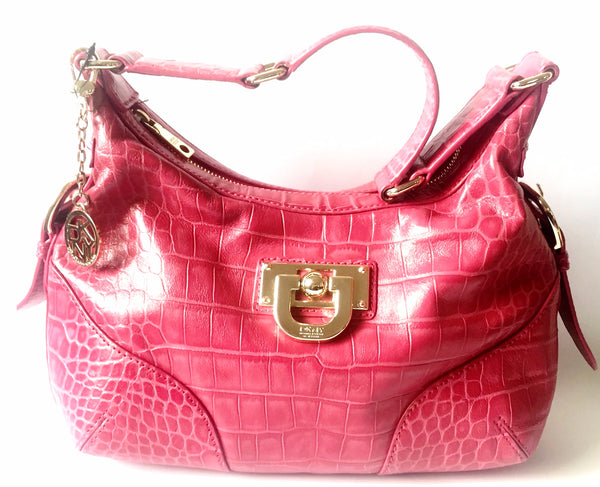 DKNY Fuchsia Pink Pebbled Leather Bag | Like New | - Secret Stash