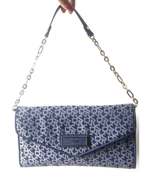 DKNY Monogram Denim Shoulder Bag | Brand New | - Secret Stash