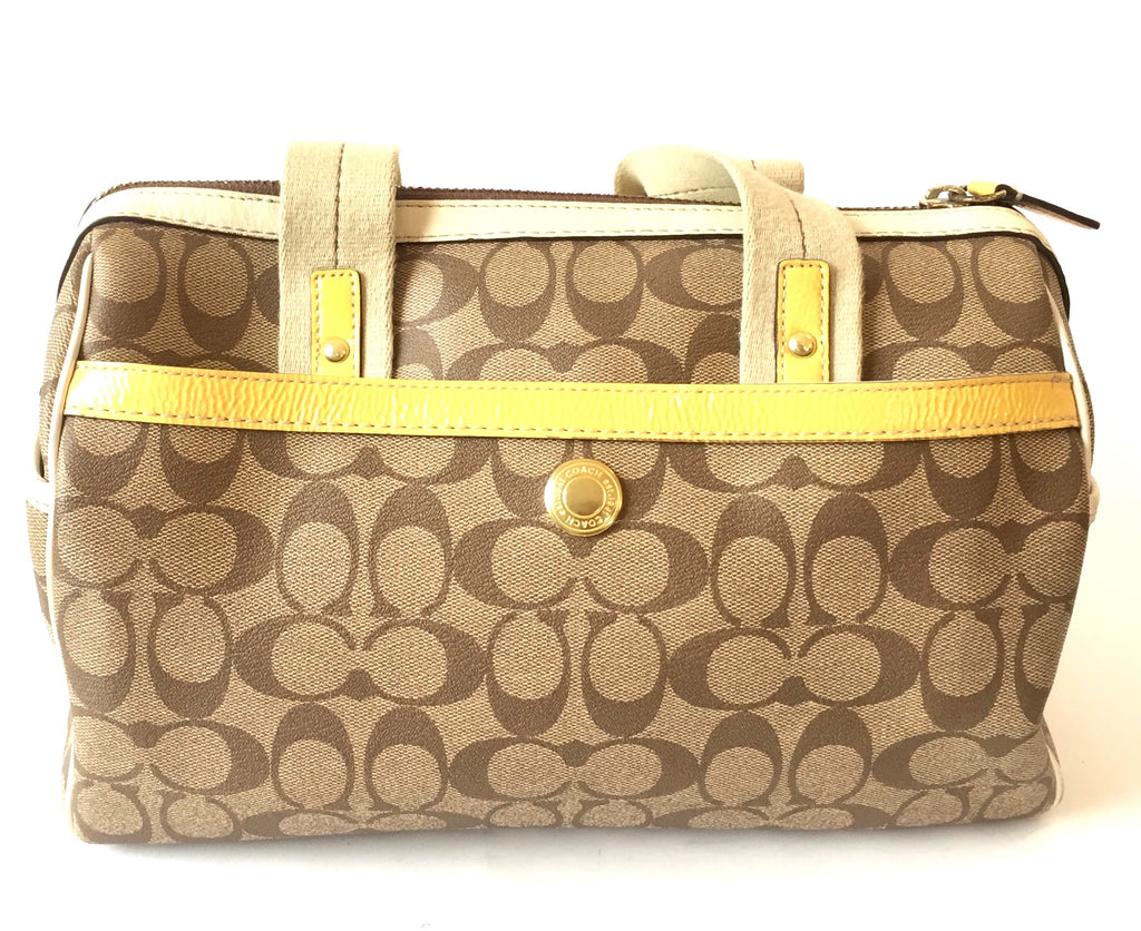 Coach Signature Collection Canvas with Leather Trim Tote | Gently Used | - Secret Stash