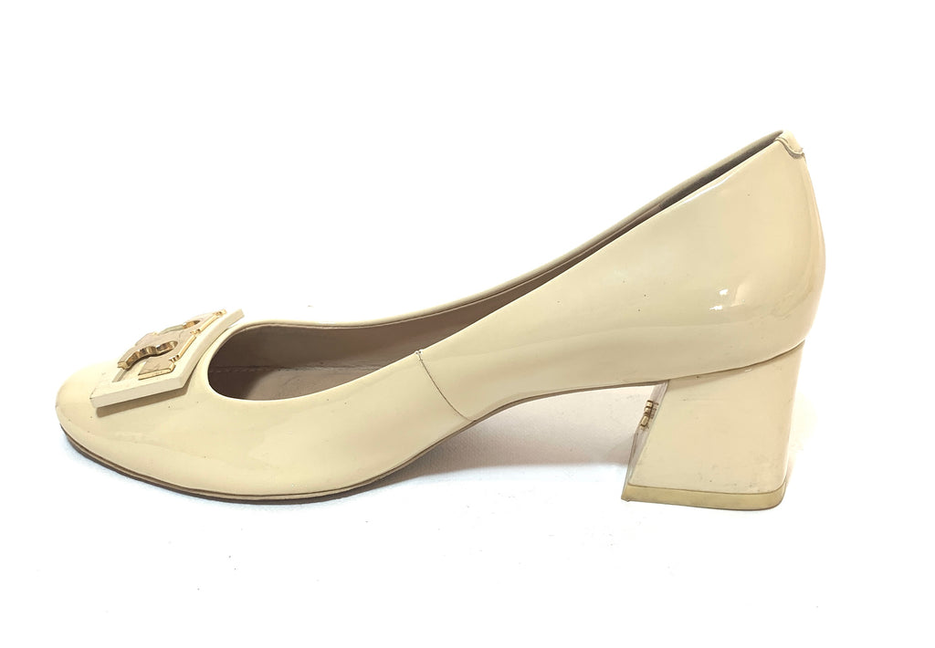 Tory Burch Cream Leather 'Gigi' Pumps | Pre Loved |