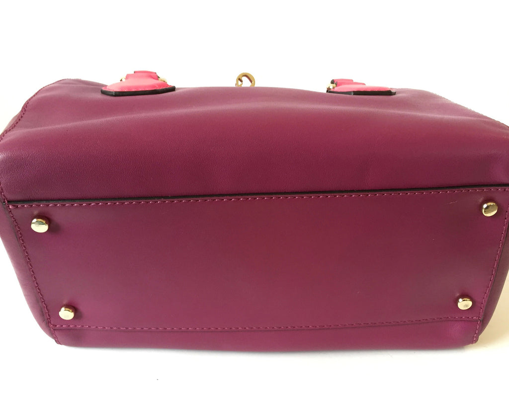 Kate Spade Purple & Pink Leather Satchel | Gently Used |