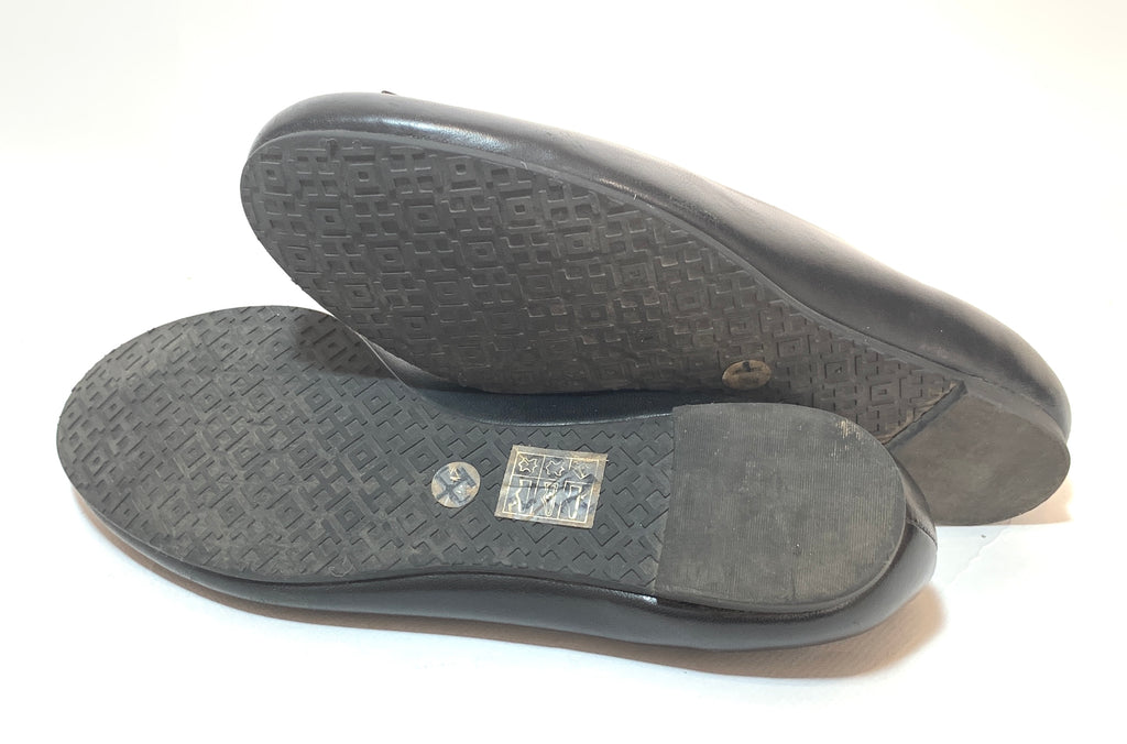Tory Burch Black Leather 'Melinda' Ballet Flats | Pre Loved |