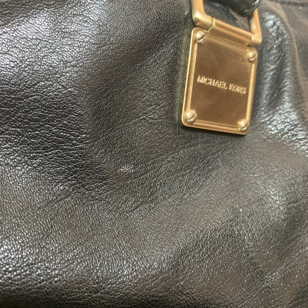 Michael Kors Black Leather Tote Bag | Pre Loved |