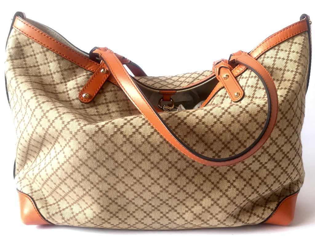 gucci used. Gucci Craft GG Canvas Diamante Tote Bag With Pochette | Gently Used - Secret Stash E
