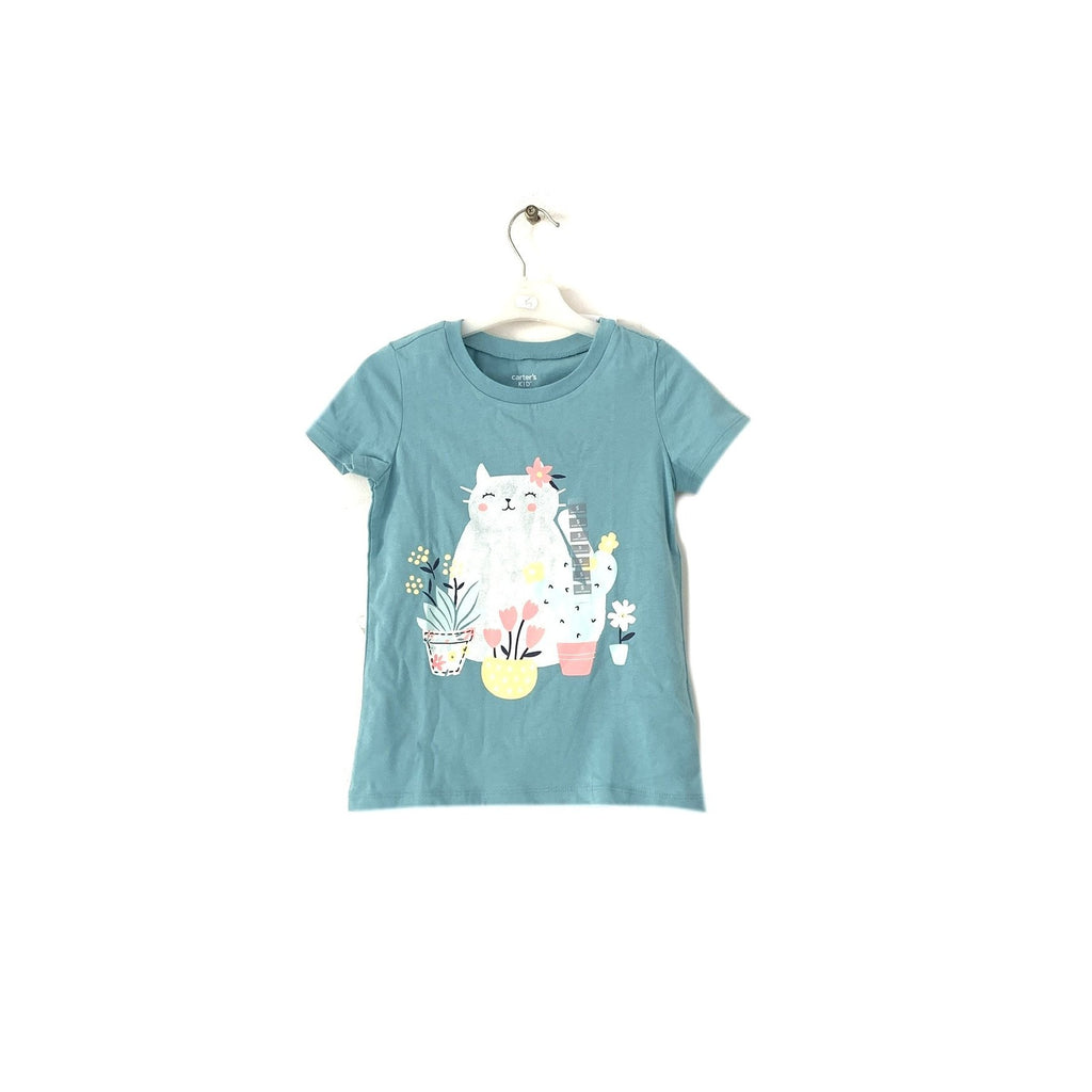 Carter's Blue Cat T-Shirt | Brand New |