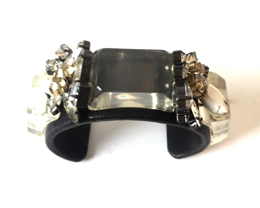 J Crew Glass & Rhinestone Cuff | Gently Used |
