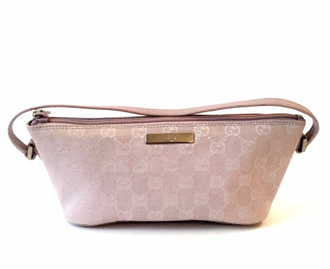 GUCCI GG Monogram Lavender Pochette Bag | Pre Loved |