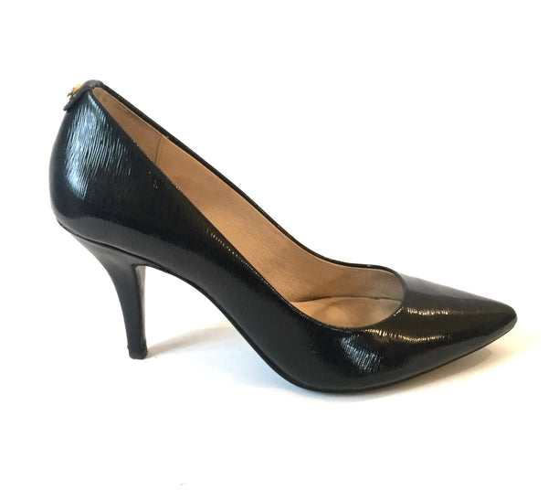 Michael Kors Navy Leather Pumps | Gently Used |