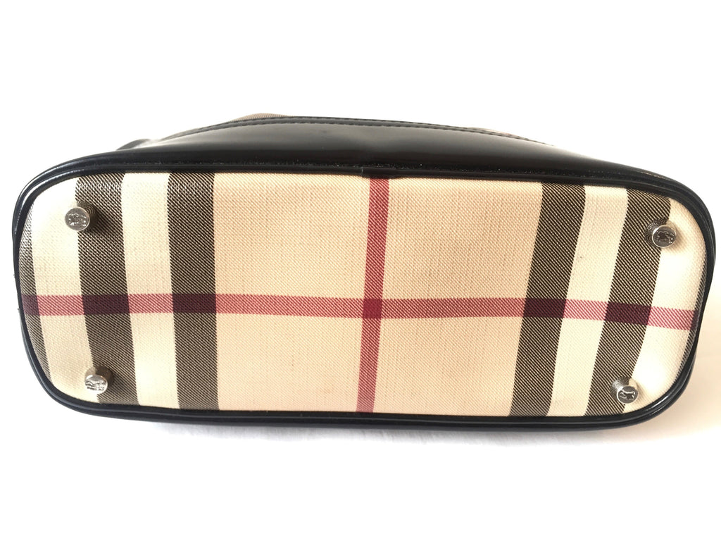 Burberry Check with Leather Trim Shoulder Bag | Gently Used | - Secret Stash