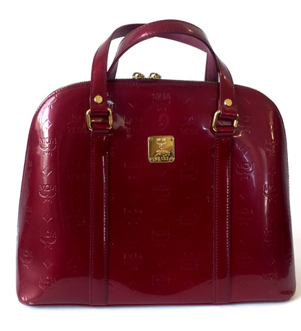 MCM 'Ivana' Greta Patent Leather Bag | Gently Used |