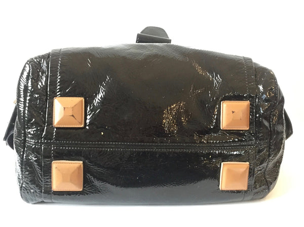 CHLOE Black Patent Leather 'Audra' Bag | Pre Loved |