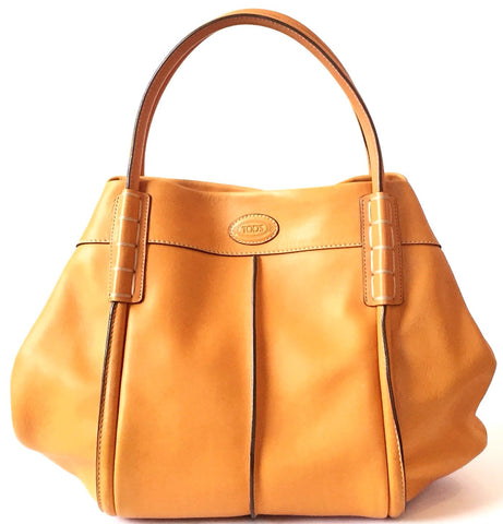 TOD's 'SHADE' Orange Leather Tote Bag | Gently Used |