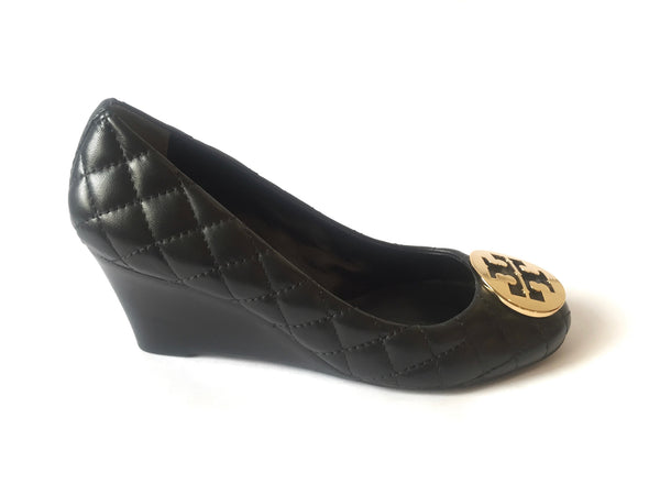 Tory Burch 'Quinn' Quilted Leather Wedges | Gently Used | - Secret Stash