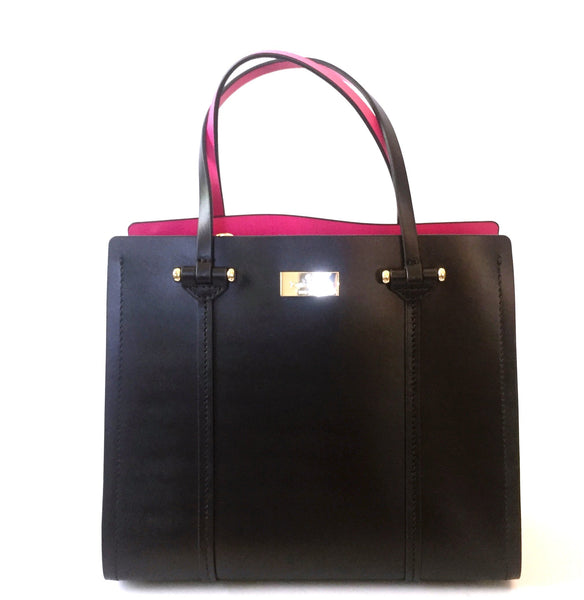 Kate Spade 'Arbour Hill Small Elodie' Black Leather Bag | Brand New |