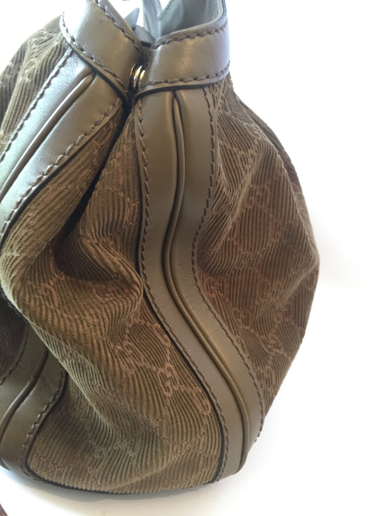Gucci Signature GG Corduroy Medium Sukey Tote Bag | Gently Used |