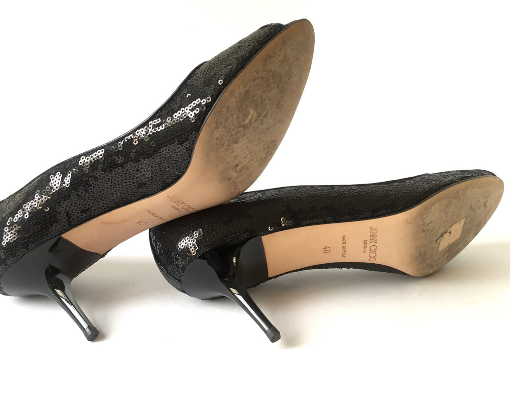 Jimmy Choo 'Evelyn' Peep Toe Pumps | Like New | - Secret Stash