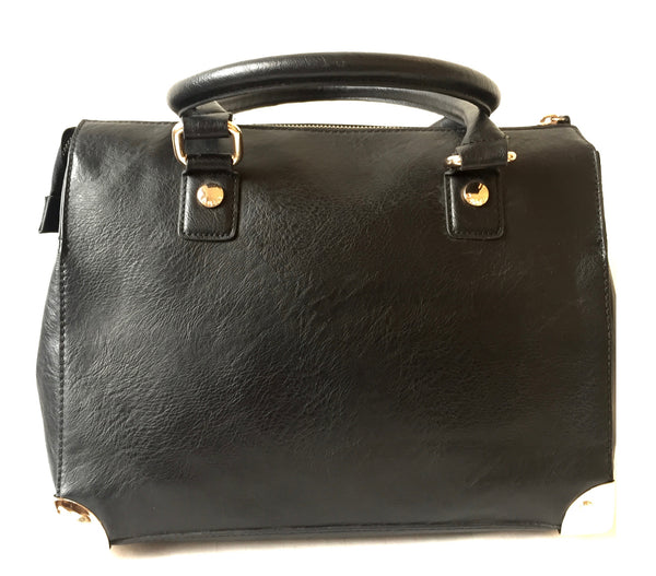 DUNE Black with Gold Hardware Tote Bag | Gently Used | - Secret Stash
