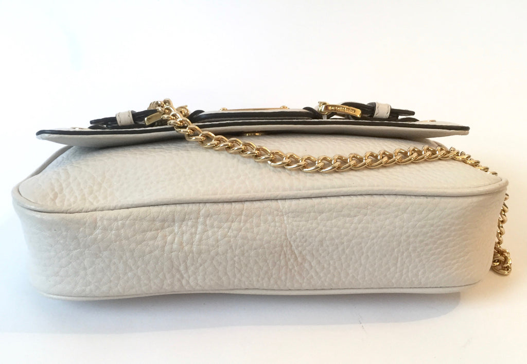 Michael Kors Cream White Leather Shoulder Bag | Gently Used |