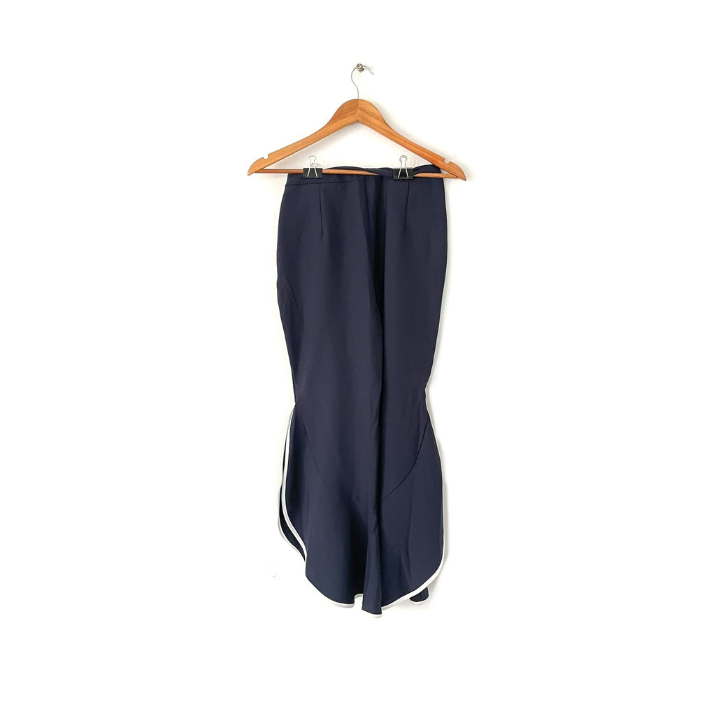 ZARA Navy Boot-Leg Pants | Gently Used |