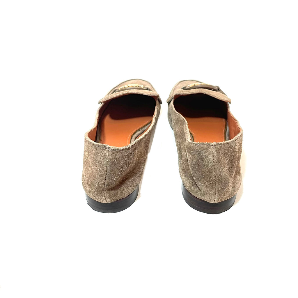 Tory Burch 'Miller' Suede River Rock Loafers | Pre Loved |