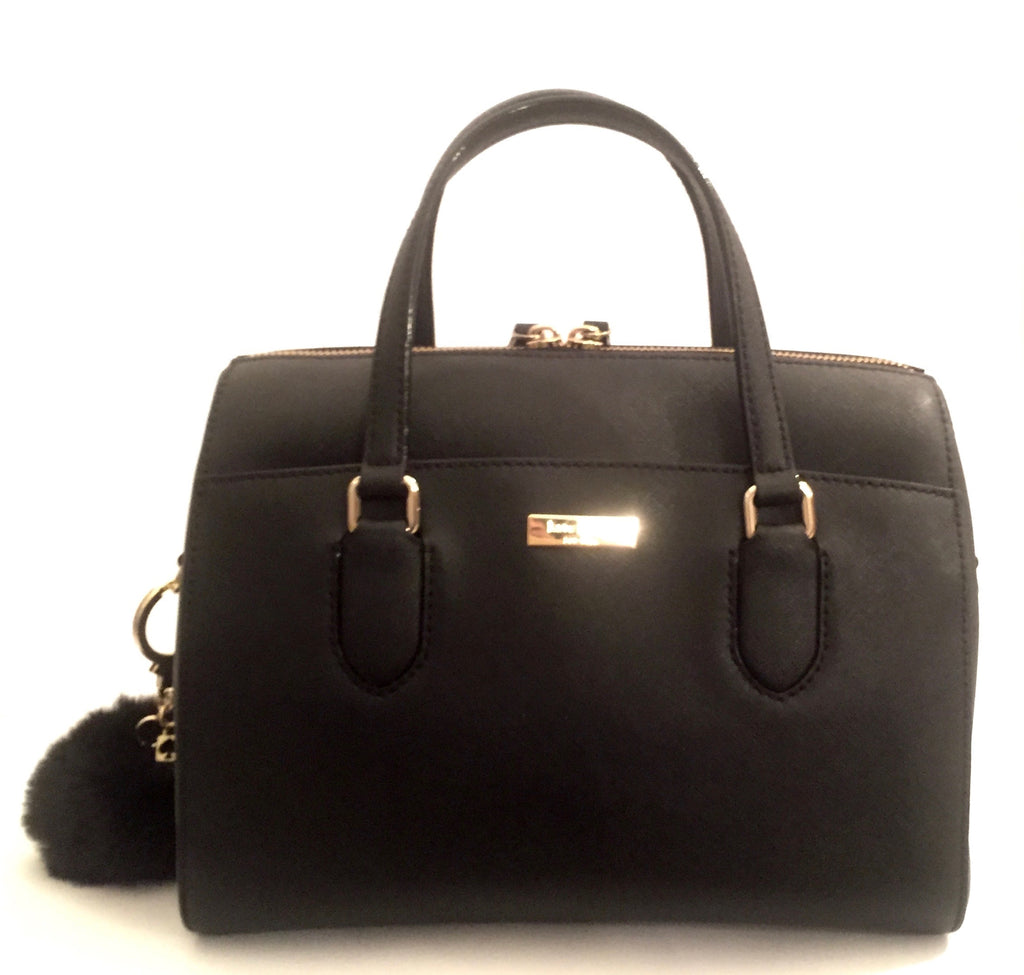Kate Spade Black Leather Tote Bag | Gently Used |