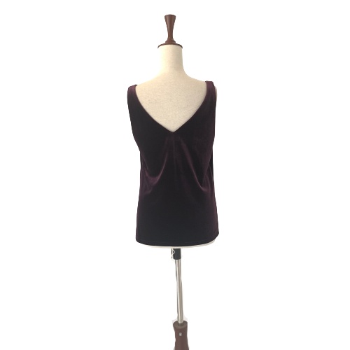 Wallis Purple Velvet Sleeveless Top | Brand New |