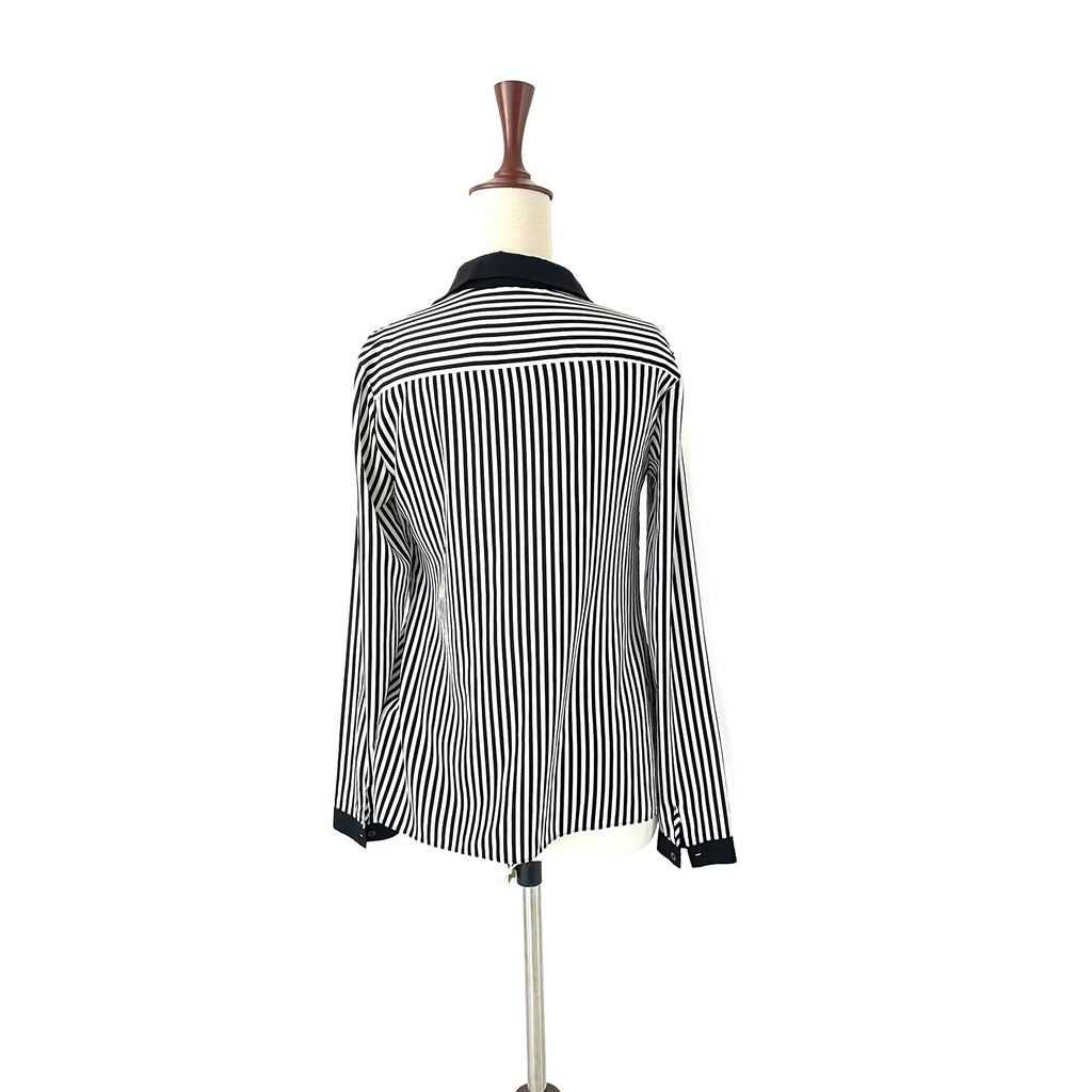 Red Herring Black & White Striped Shirt | Gently Used |