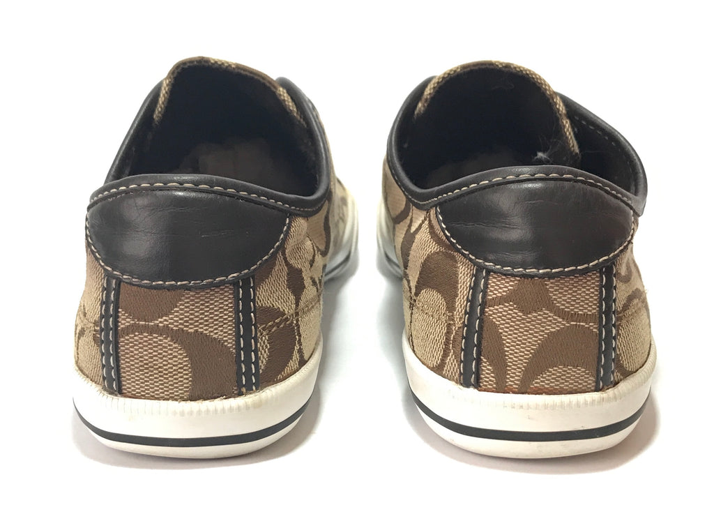 Coach Monogram Canvas Sneakers  | Gently Used |
