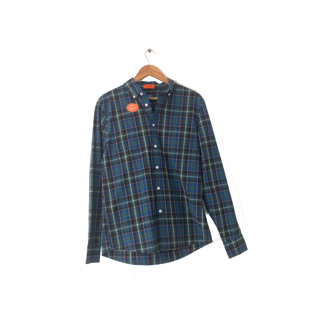 St. John's Blue Flannel Checked Shirt | Brand New |