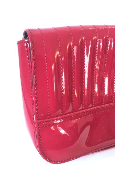 Ted Baker Red Patent Leather Clutch | Gently Used |