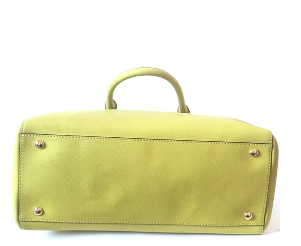 Michael Kors Lime Green Leather Tote Bag | Pre Loved |