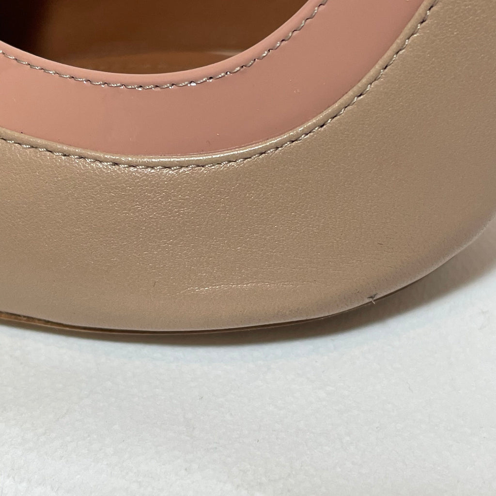 Malone Saouliers Nude-Blush Leather Pumps | Pre Loved |