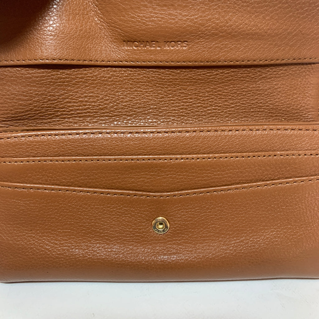 Michael Kors Tan Leather Envelope Wallet | Pre Loved |
