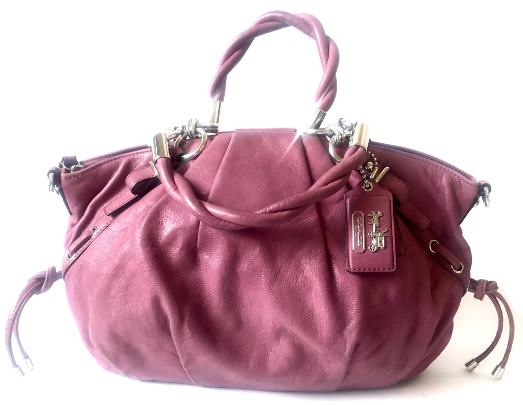Coach Purple Leather Limited Edition Tote Bag | Gently Used | - Secret Stash