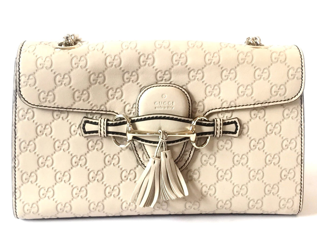 ecad33aeddb175 Gucci 'Emily Guccissima' Medium Chain Shoulder Bag | Gently Used ...