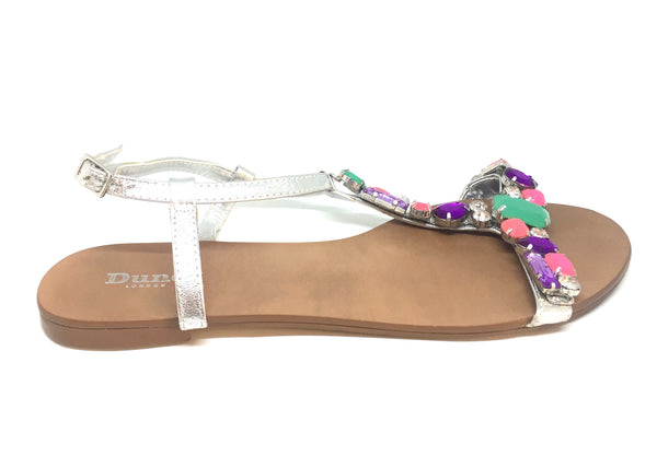 DUNE Rhinestone Flat Sandals | Gently Used |