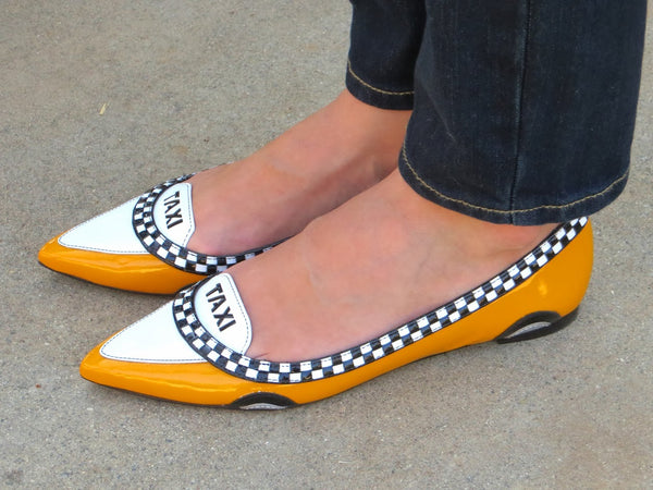 Kate Spade 'Go Taxi' Pointed Ballet Flats | Gently Used |