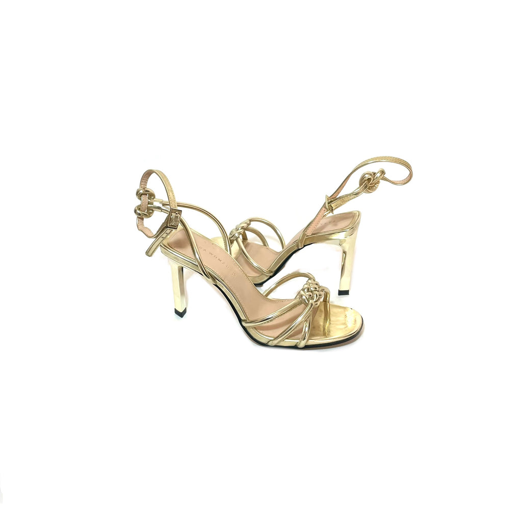 ZARA Gold Strappy Heels | Gently Used |